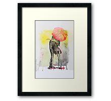 Pink Rain Framed Print