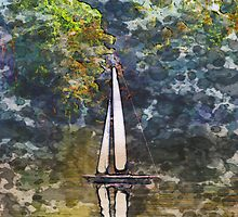 Yacht on the lake by Paul Stevens