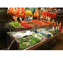 Market Stall1 Photographic Print