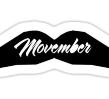 MOUSTACHE MOVEMBER Sticker