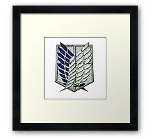 Attack on titan logo anime Framed Print