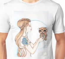 A Word to the Wise - Owl Watercolor Painting Unisex T-Shirt