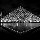 The Louvre in Black & White  by Sven Brogren