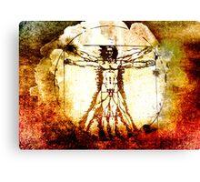 Vitruvian Man - Leonardo Da Vinci Tribute Art T Shirt Canvas Print