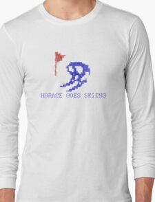 Vintage Look Retro Arcade Horace Goes Skiing Long Sleeve T-Shirt