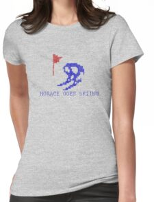 Vintage Look Retro Arcade Horace Goes Skiing Womens Fitted T-Shirt