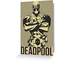Deadpool Vector Greeting Card