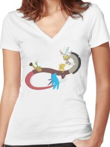 My little Pony - Discord Women's Fitted V-Neck T-Shirt