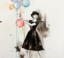 Audrey Hepburn Funny Face by Sara Riches