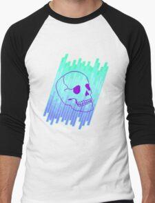 Skull Fade (Blue) Men's Baseball ¾ T-Shirt