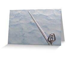 VE Valiant VIP V8 clouds reflection Greeting Card