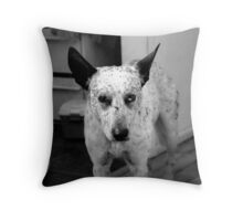 Lucky is his name! Throw Pillow