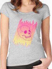 Skull Fade (Pink) Women's Fitted Scoop T-Shirt