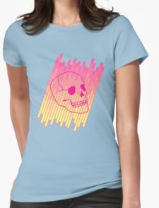 Skull Fade (Pink) Womens Fitted T-Shirt