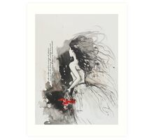 Bleed My Household White Art Print