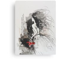 Bleed My Household White Canvas Print