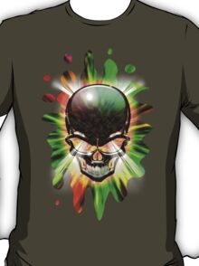 Crystal Skull on Psychedelic Flames T-Shirt