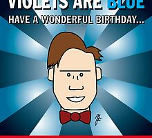 Doctor Who Roses Are Red Birthday Card by mjfouldes