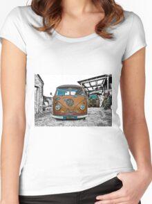 VW Split Screen Women's Fitted Scoop T-Shirt
