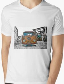 VW Split Screen Mens V-Neck T-Shirt