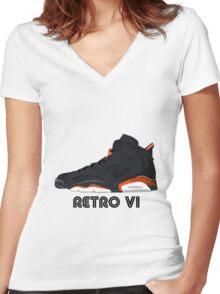 Retro VI Women's Fitted V-Neck T-Shirt