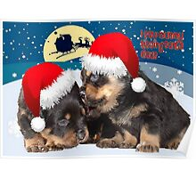 Puppy Christmas: I saw Mummy Kissing Santa Claus Poster