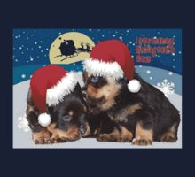 Puppy Christmas: I saw Mummy Kissing Santa Claus One Piece - Short Sleeve