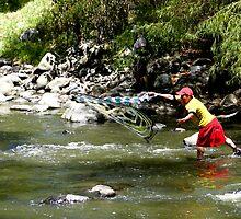 Fishing On The Tomebamba by Al Bourassa