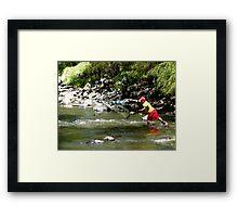 Fishing On The Tomebamba Framed Print