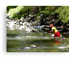 Fishing On The Tomebamba Canvas Print