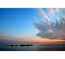 Sunset over Croatia and the Adriatic Sea Photographic Print