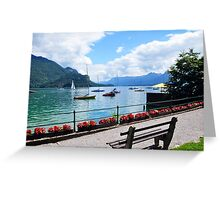 Lake Wolfgang, Austria Greeting Card