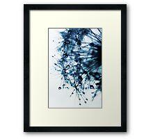 ink blue Framed Print