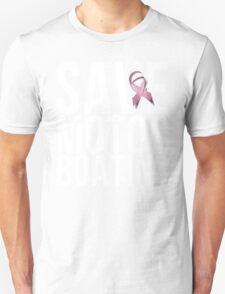 Mens Breast Cancer Save Motorboating Unisex T-Shirt