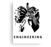Engineering Art Canvas Print