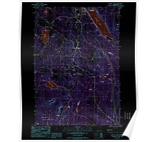 USGS Topo Map  Vermont VT Crystal Lake 337388 1986 24000 Inverted Poster