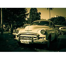 Ageing chevy  Photographic Print
