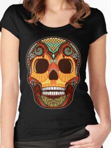 Tattoo Skull Women's Fitted Scoop T-Shirt
