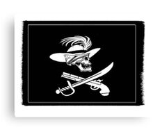 Capt Spike's Colours ( the old pirate ) Canvas Print