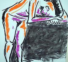Nude female sketch #2 by bjorksboy