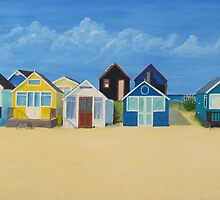 Hengistbury Beach Huts - c by Richard Paul