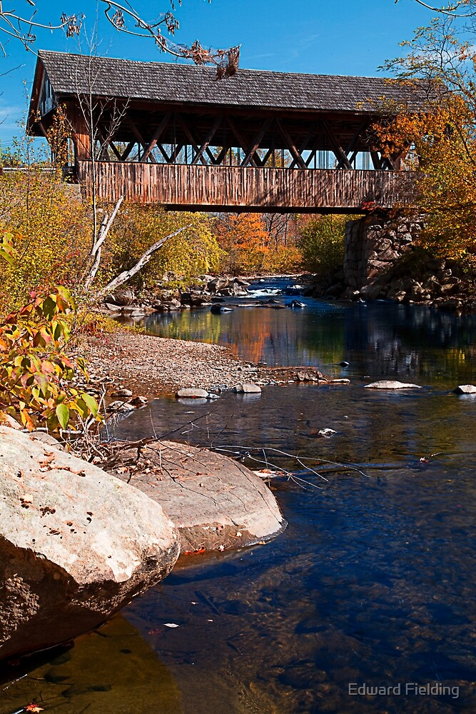 PACKARD HILL BRIDGE Lebanon, New Hampshire by Edward Fielding