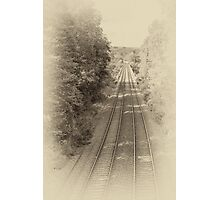 Railway lines Photographic Print