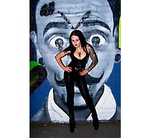 Hot in leather  Photographic Print