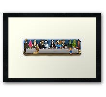 Monsters Last Supper  Framed Print