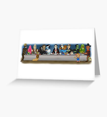 Monsters Last Supper  Greeting Card