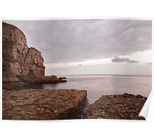 Seacombe Bay and cliffs Poster