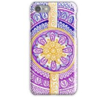 Purple and Gold Mandala Henna Tattoo Design by Rozine iPhone Case/Skin
