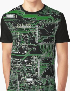 Circuit Board Green Graphic T-Shirt