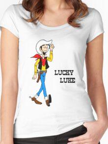 Lucky Luke II Women's Fitted Scoop T-Shirt
